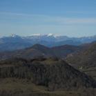Pedraforca i Pirineus en l'horitzó (Foto: Mireia Calvet)