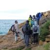 01 Participants damunt una platja fòssil (Foto: Josep M. Nogué)