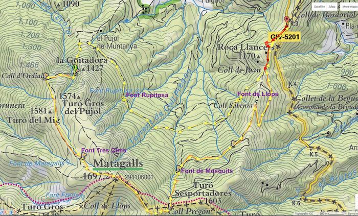 map BORDORIOL MATAGALLS