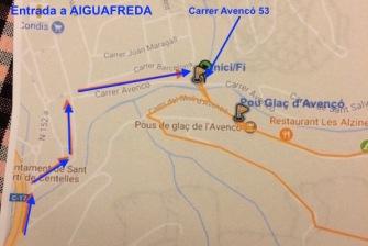 Entrada a Aiguafreda
